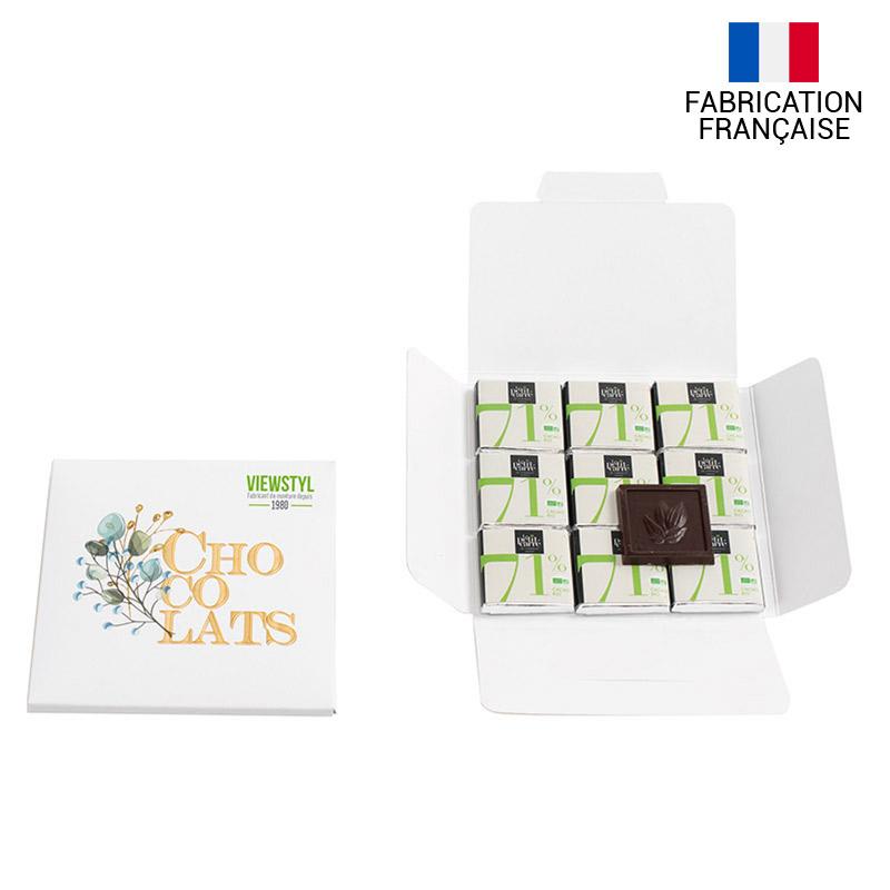 Carte 9 carrés de chocolat