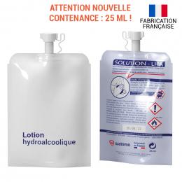Pochon de lotion hydroalcoolique standard