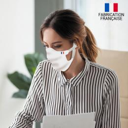 Masque alternatif tissu blanc uni double épaisseur