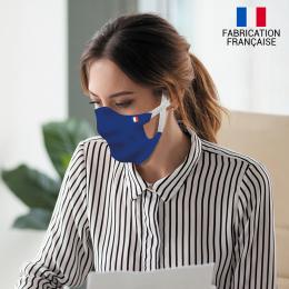 Masque alternatif tissu couleur uni double épaisse