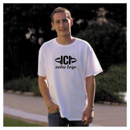 T-shirt Blanc 185g HEAVY-T FRUIT OF THE LOOM Mixte