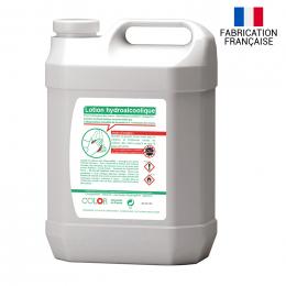 Bidon de lotion hydroalcoolique étiquette perso