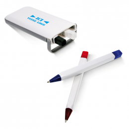 Ensemble 4 stylos dans un coffret blanc BALESTRA