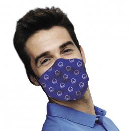 Masque alternatif tissu uni 3 epaisseurs