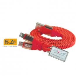 Câble zippé de chargement tel FUNZIP