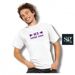 T-shirt Blanc 175g SG Mixte
