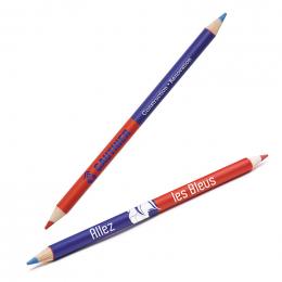 Crayon bi-couleur vernis