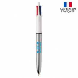Stylo-bille 4 couleurs SHINE BIC