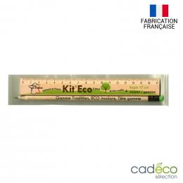 Set règle et crayon à papier KIT ECO